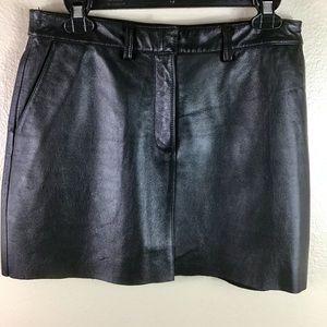 EUC- Wilson's Genuine Leather Mini Skirt
